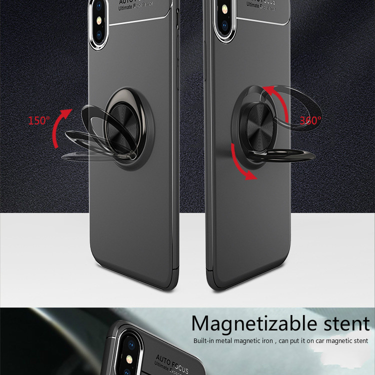 For iPhone 5 5s 6 6s 6P 6sP 7 7P 8 8P X Ring Magnetic Car Mount Apple M
