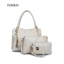 FZMBAI Fashion Women s Embossing Tote Handbag PU Leather One Shoulder Bags Set