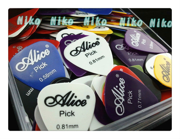 20pcs Alice Acoustic Electric Guitar Picks Bass Plectrums Various Colors 6 Thickness Optional