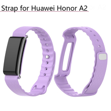 Colorful Soft Silicone Replacement Bracelet Band Smart Watch Wrist Strap for Huawei Honor A2 Watchband Wristband Replacement silicone replacement watchband strap for huawei honor a2 smart watch band strap wristband bracelet accessories