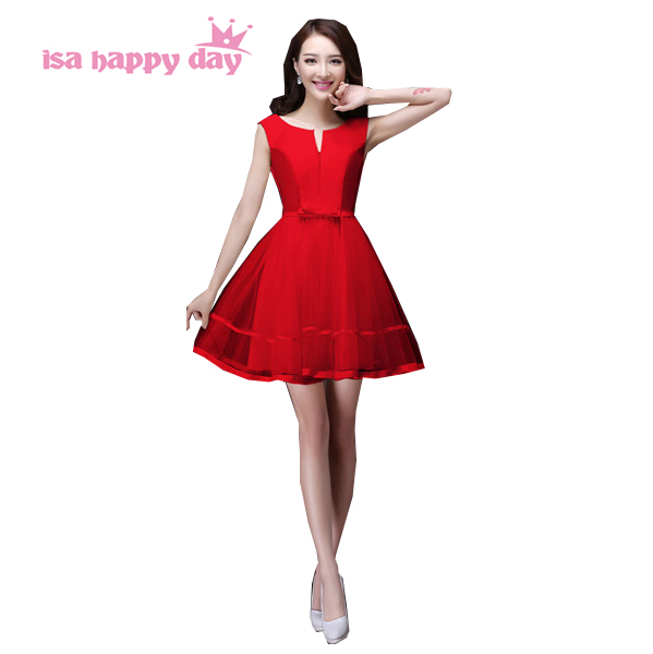 79eae4ca8 Adolescente de alta moda sexy girl curto doce 16 vestido vermelho curto do  baile de finalistas
