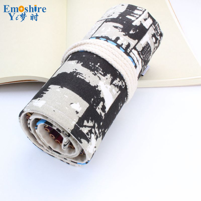 Good Quality 36/48/72 Holes Canvas Pencil Case Roll Up Sketch Painting Pen Box School Office Pencil Stationery Bag B066 good quality 36 48 72 holes canvas pencil case roll up sketch painting pen box school office pencil stationery bag b066