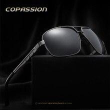 2017 Nuevos hombres gafas de sol Polarizadas de Los Hombres gafas de Conducción del conductor oculos retro remache Gafas de sol uv400 Gafas gafas de sol hombre