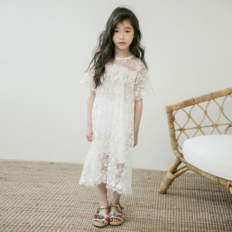 patchwork lace floral princess white dress girl teenage kids clothes long toddler kids baby girls lace dress party summer 2018 casual kids baby girls white lace floral long sleeves dress princess party dress ball gown dresses clothes