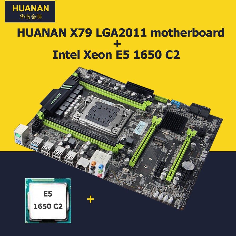 Full new HUANAN V2.49 X79 motherboard CPU combos X79 LGA2011 mainboard CPU Xeon E5 1650 C2 building computer all good tested