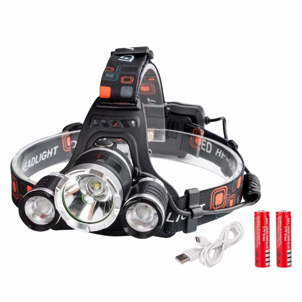 Head Lamp 3W Waterproof LED Headlight Flashlight White Red Light Cute Lovely