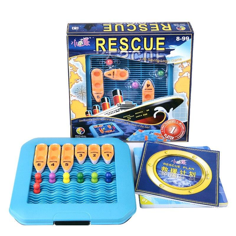 plastic toy birthday gift 3D boat ship model sea rescue plan life saving logic game intelligence parents-kid 1set