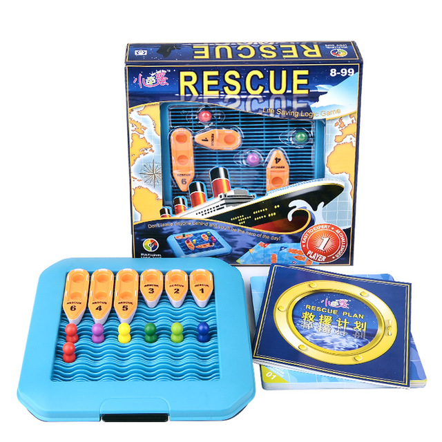 plastic toy birthday gift 3D boat ship model sea rescue plan life saving logic game intelligence parents-kid 1set