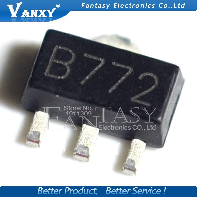 20PCS 2SB772 SOT89 B772 SMD SOT-89 PNP MEDIUM POWER TRANSISTOR New And Original
