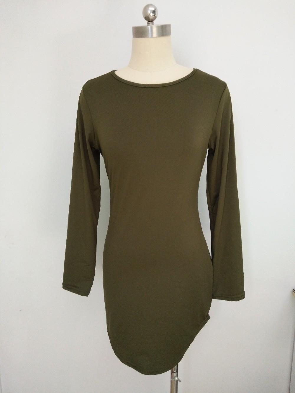 HTB1sFz9MVXXXXc0XXXXq6xXFXXX2 - Long Sleeve Mini Bodycon Split Tshirt Bandage Dresses JKP208