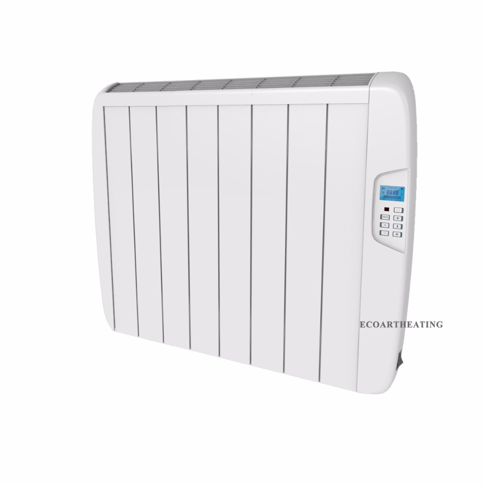 Us 176 0 1500w Electric Timer Panel Heater Wall Mounted Slimline Aluminium Radiator In Heaters From Home Liances On Aliexpress