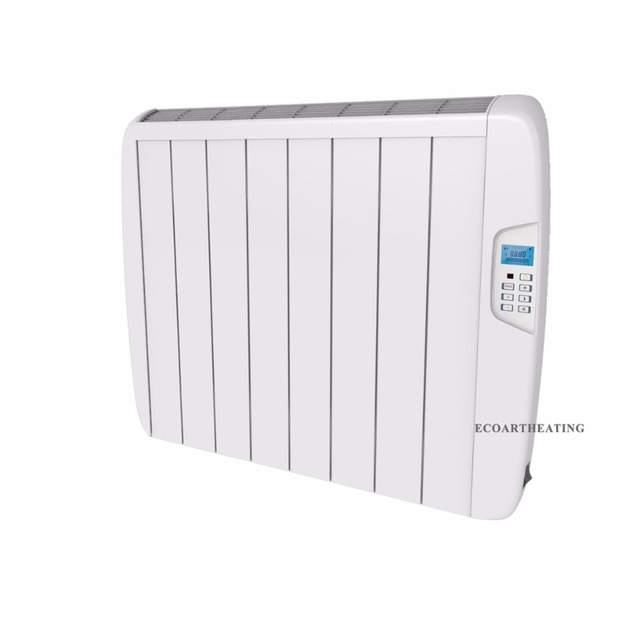 1500w Electric Timer Panel Heater Wall Mounted Slimline Aluminium Radiator