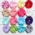 7cm Baby kids hair flower Ballerina Flowers Chiffon Flowers,Fabric Flowers For Headbands,Hair Accessories unfinished 36pcs