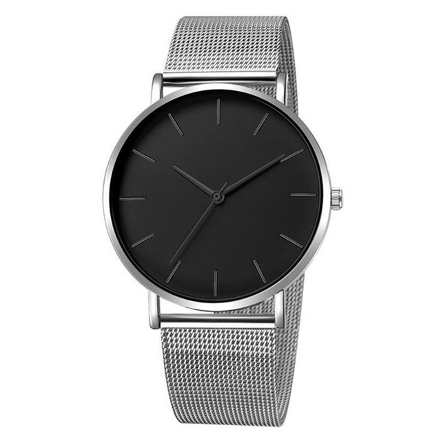 2019 Women Watches Mesh Band Stainless Steel Analog Quartz Wristwatch Minimalist Ladies Business watch Luxury Black reloj mujer 5