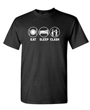 Military T Shirts Short Graphic Eat Sleep Clash Mobile Gaming Fun Play O-Neck Tees For Men