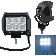 цена на 4 18W LED Work Light Bar Beam Spot Offroad Driving Fog Lamps SUV ATV 4WD IDEM 6000K Front Fog Lamp For Car Led Trailer Lights