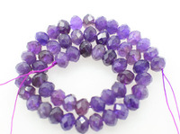 loose beads AA amethyst roundel faceted 10*6mm 38cm for DIY jewelry making FPPJ wholesale beads nature gemstone