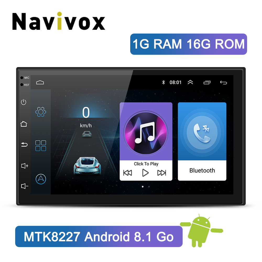 Lecteur multimédia de voiture Navivox 2 Din Android 8.1 autoradio universel autoradio DVD GPS Bluetooth pour Volkswagen Nissan Toyota