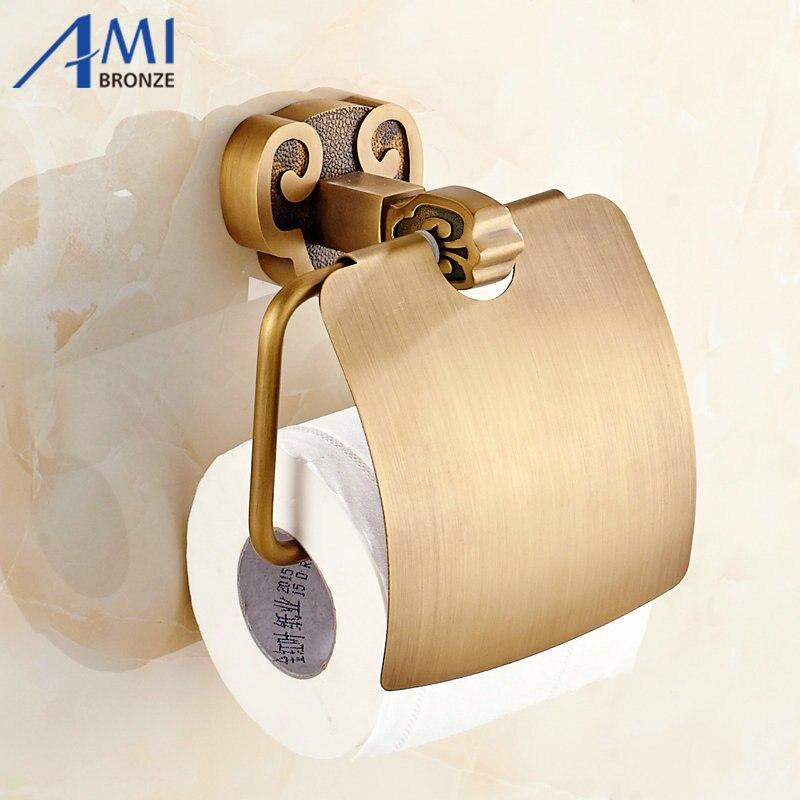 ФОТО Sanyangkaitai Series Antique Brushed Brass Toilet Paper Holders Bathroom Accessories Paper Shelf Toilet Vanity