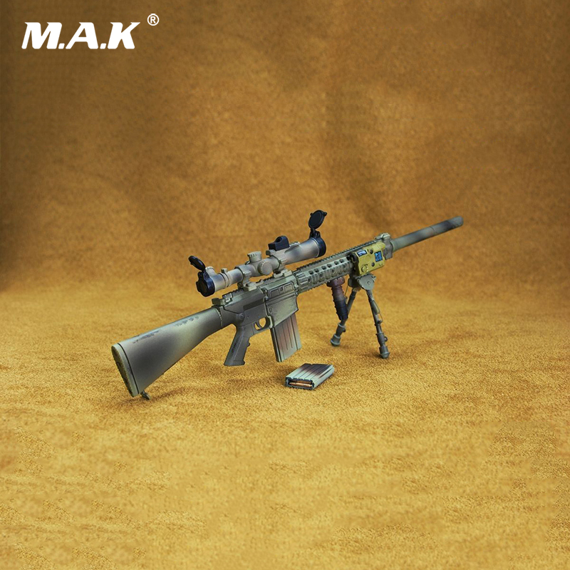 1/6 Scale Model Gun MK11 MOD0 Rifle AWM Gun Weapon Toy For 12 inches Soldier Action Figure 1 6 scale soldier figure weapon accessories distressed sniper rifle pistol gun model toy with box for action figure dolls