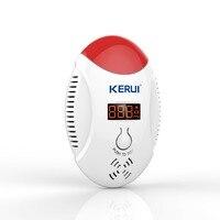 KERUI LED Digital Display Wireless CO Natural Gas Sensor Leak Detector Alarm Sound Warning Can Work