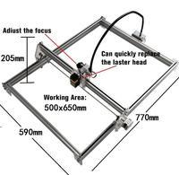 5065 pequena máquina de gravura do laser cnc máquina de gravura automática diy máquina de gravura tomar 7 w laser