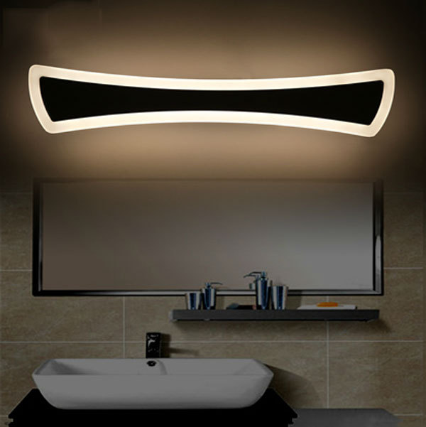 Fashion simple modern bathroom toilet mirror light waterproof and ...