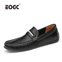 Comfortable Genuine Leather Men Shoes Quality Slip On Casual Shoes Men Soft Loafers Moccasins Breathable Driving Shoes