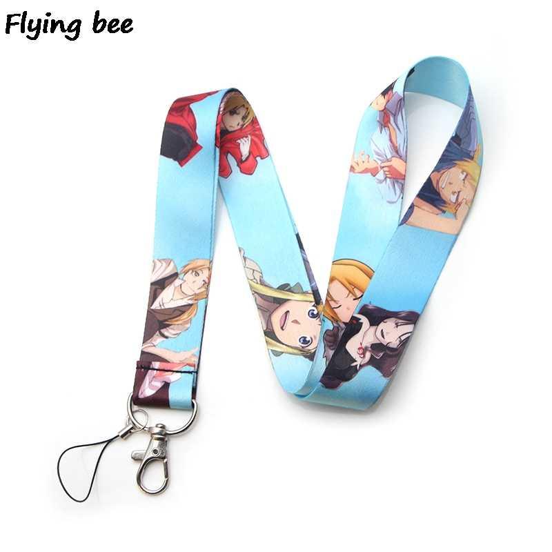 Flyingbee שרוך תג מזהה הנייד טלפון חבל keychain מפתח שרוך צוואר רצועות אביזרי X0122