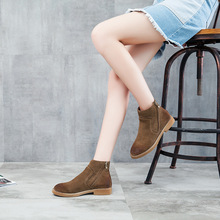 Women Autumn winter Boots Ankle boots genuine nubuck leather  exquisite sapato Motorcycle boots casual shoes JA958W