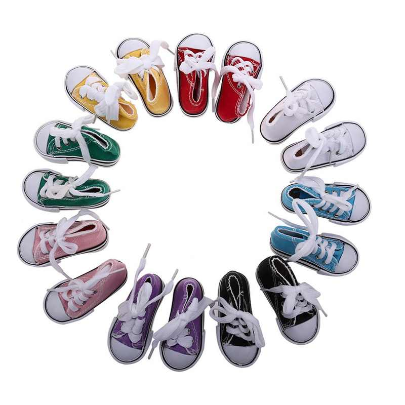 New Style 7.5cm Baby Doll Shoes Baby Doll Clothes Accessories Handmade Sneakers For Girl Dolls