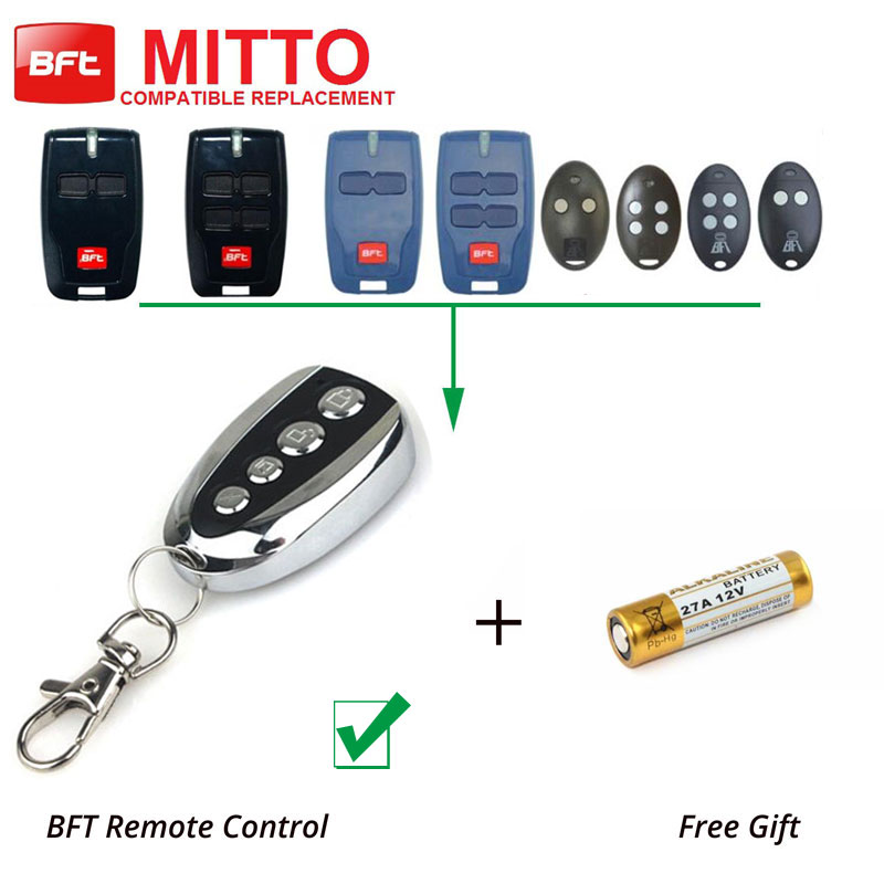 Replacement Transmitter Radio Control Remote BFT MITTO2 Rolling Code 433.92 high quality bft mitto2 mitto4 remote control raplacement 433mhz rolling code dhl free shipping