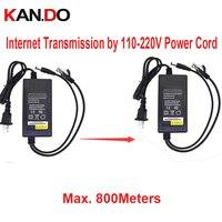 DC 12 V 2A zasilacz 500 mbps transmisji sieci przez 110-220 V przewód 800 M PLC DC 12 V zasilania dla cctv kamera sieciowa nadajnik