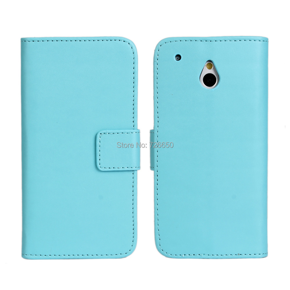 PU Leather Wallet Case for HTC One Mini M4 with Black,White,Pink,Sky Blue + Free Screen Protector