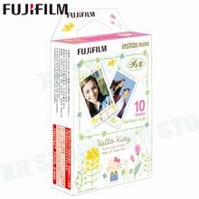 Fujifilm Instax Mini 11 8 9ฟิล์มHello KittyทาสีFuji Instant Photoกระดาษ10แผ่นสำหรับ70 7S 50S 50i 90หุ้นSP 1 2กล้อง