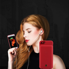 7000 Mah For iPhone 7 Plus Charger Case Silica gel audio output Smart Battery Power Bank For Apple iPhone 7 Plus Charger Case