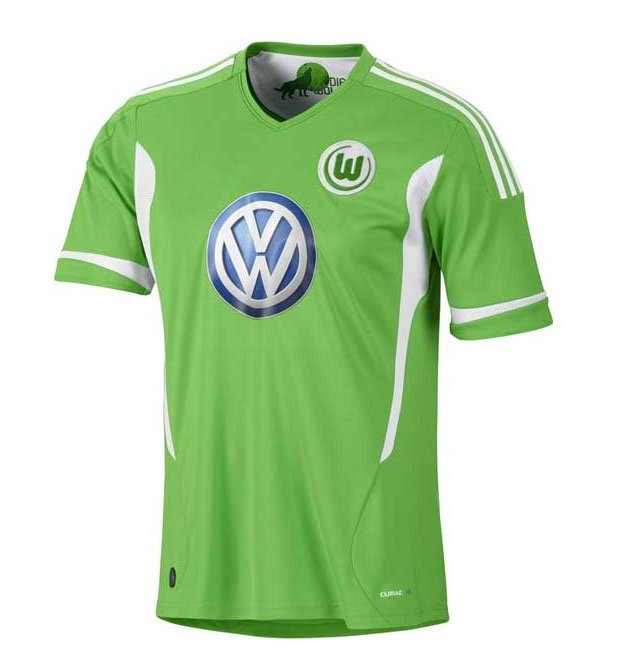 half off 942dd 2f6d9 New Season 11 12 VFL Wolfsburg FC Home Soccer Jersey Kit For ...