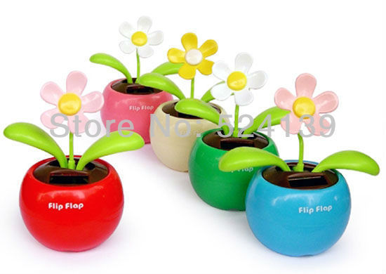 2013 Hot Car accessories Car/Home decoration Apple Flower Solar  FreeShipping