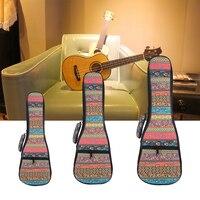 Soft Padded Cotton Folk Style Portable Bag Case Cover Backpack Single Shoulder For Ukulele 21 23