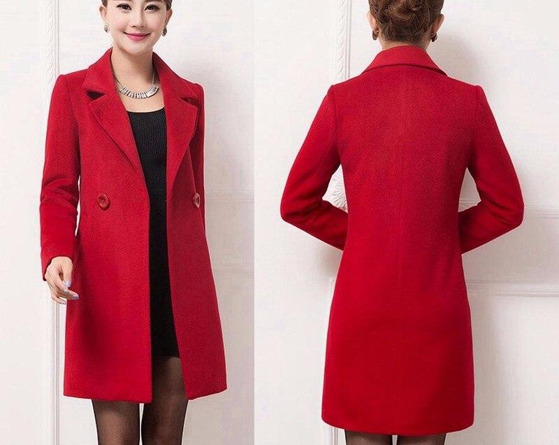 Wool Coat Female Fashion Women Woolen Coats High-end Elegant Long Slim Winter Jacket Royal Coats&Jackets Plus Size Femininos 4XL 19