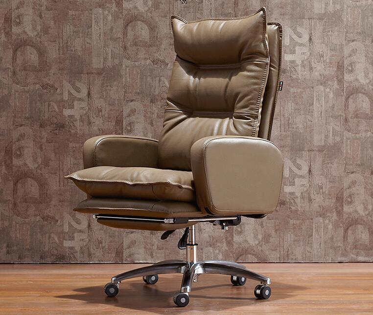 Boss chair. Real leather electric chair. Reclining computer chair. Home office chair.036 the silver chair