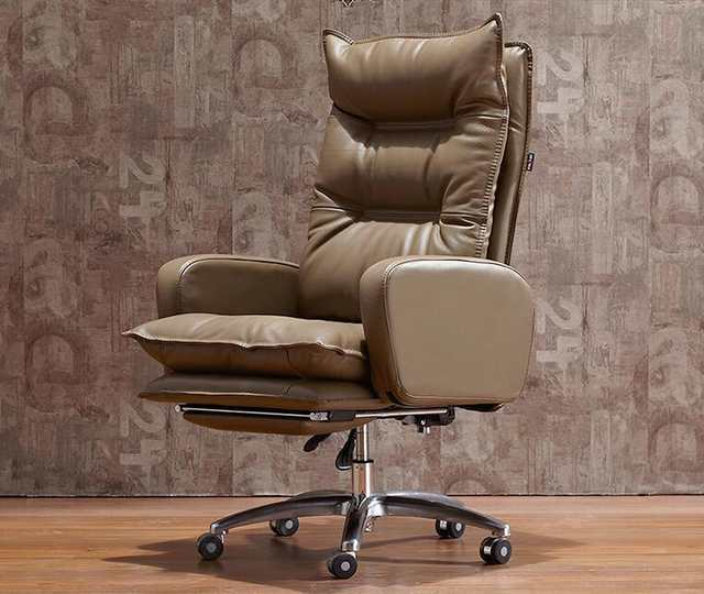 Brown Computer Chair Bistro Table And Chairs Kmart Online Shop Boss Real Leather Electric Reclining Home Office