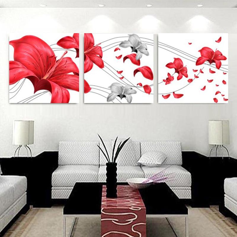 """Drobė Tapyba lelijos gėlė Paveikslas ant sienos Didelis """"Art - Namų dekoras"""