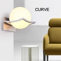 L62 Creative modern minimalist glass milk white ball wall lamp single head lamps lighting Bedroom bedside aisle wall lights