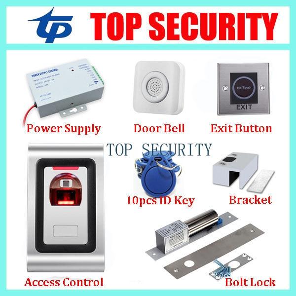 New arrival standalone fingerprint door access control system metal fingerprint reader fingerprint access controller kits