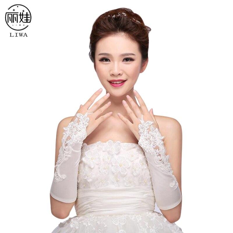 100% QualitäT 2017 Neue Ankunft Fingerlose Brauthandschuhe Gants Dentelle Mariage Satin Appliqued Weißes Handschuhe Zu Die Ellenbogen Günstigste Ck203