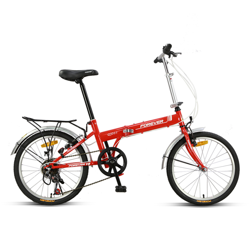 Folding Bicycle Adult Variable Speed Front And Rear Wheel V Brake 20 Inches Aluminum Alloy Rim Material