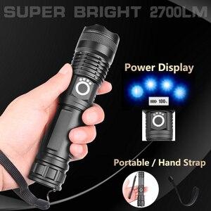 Image 5 - 90000 lumen XLamp xhp70.2 di caccia più potente ha condotto la torcia elettrica ricaricabile usb torcia cree xhp70 xhp50 18650 o 26650 batteria