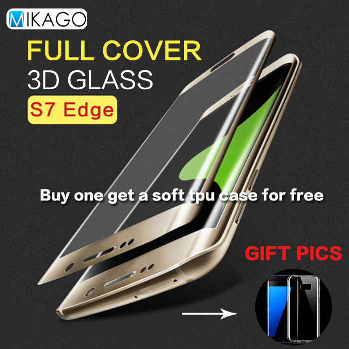 Full Coverage 5 5for Samsung Galaxy S7 Edge Case font b Tempered b font font b