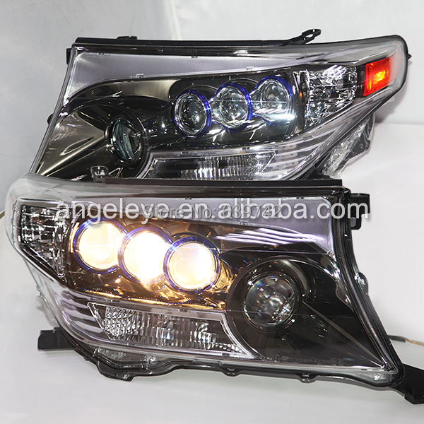 пороги toyota fj For TOYOTA  Land Cruiser LC200 FJ200 LED Head Lamp Chrome housing 2008-2013 year DB